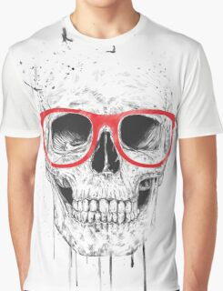Skull with red glasses Graphic T-Shirt