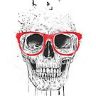 Skull with red glasses by soltib