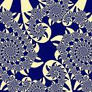 Blue spirals by Rupert Russell