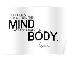 mind and body - seneca Poster