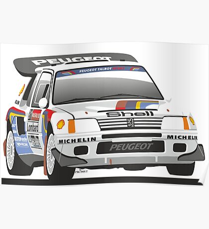 Peugeot 205 T16 Group B rally car Poster