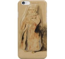 SIR DAVID WILKIE, R.A.,  - PORTRAIT OF THE INFANT DAUGHTER OF ADMIRAL WALKER, COMMANDER OF THE TURKISH FLEET iPhone Case/Skin