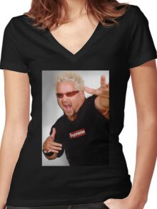Guy Fieri x Supreme Women's Fitted V-Neck T-Shirt