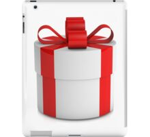 one white  gift box with red ribbon  iPad Case/Skin