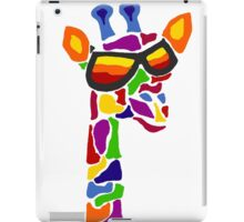 Hilarious Cool Giraffe Wearing Sunglasses Abstract iPad Case/Skin