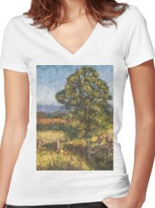 Beechwood - plein air Women's Fitted V-Neck T-Shirt