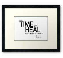 time can heal - seneca Framed Print