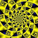 Yellow infinite spiral  by Rupert Russell