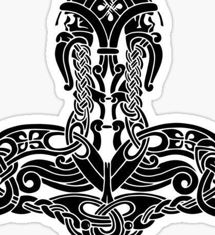 Thor's Hammer Mjölnir - Amulet symbol Sticker