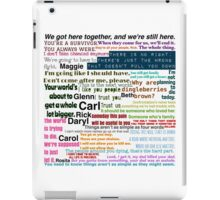 The Walking Dead Quotes iPad Case/Skin