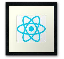 react js logo Framed Print