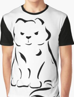 Figure cats black lines  Graphic T-Shirt
