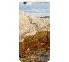 Childe Hassam - Cliff Rock - Appledore ,  American  Impressionism Seascape Marine iPhone Case/Skin