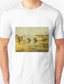 Childe Hassam - Bridge Over the Stour ,American Impressionism Landscape Unisex T-Shirt