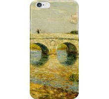 Childe Hassam - Bridge Over the Stour ,American Impressionism Landscape iPhone Case/Skin