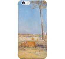 Charles Conder  - Under a southern sun Timber splitter s camp  Landscape iPhone Case/Skin