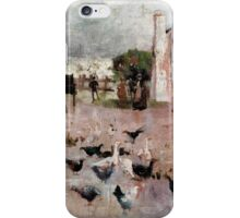 Charles Conder  - Tea-time 1888 Rustic  Australian  Provance  iPhone Case/Skin