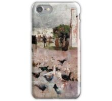 Charles Conder  - Tea-time 1888 Rustic  Australian  Provance  iPhone Case/Skin
