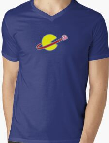 Lego Space Pac-Man (Pink Ghost) Mens V-Neck T-Shirt
