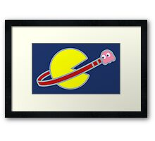 Lego Space Pac-Man (Pink Ghost) Framed Print