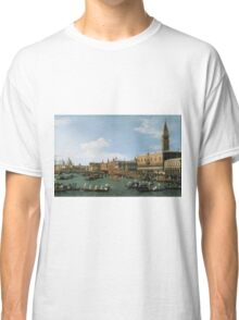 Canaletto Bernardo Bellotto - Return of  Il Bucintoro  on Ascension Day 1745-1750 Classic T-Shirt