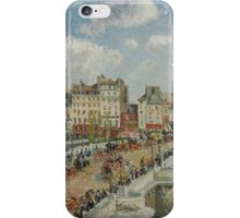Camille Pissarro - The Pont-Neuf 1902 French Impressionism Landscape iPhone Case/Skin