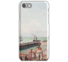 Camille Pissarro - The Jetty at Le Havre, High Tide, Morning Sun 1903 French Impressionism Seascape Marine iPhone Case/Skin