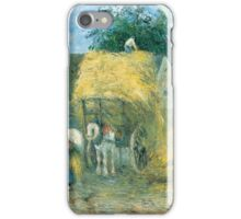 Camille Pissarro - The Hay Cart, Montfoucault 1879 American Landscape French Impressionism Landscape iPhone Case/Skin