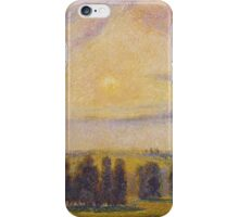 Camille Pissarro - Sunset at Eragny 1890 French Impressionism Landscape iPhone Case/Skin