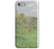Camille Pissarro - Spring, Morning, Cloudy, Eragny 1900 French Impressionism Landscape iPhone Case/Skin