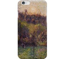 Camille Pissarro - Soleil levant a Eragny 1894 French Impressionism Landscape iPhone Case/Skin
