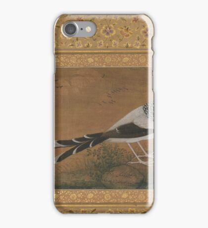 Spotted Forktail, Folio from the Shah Jahan Album , Painting by Abu'l Hasan, india iPhone Case/Skin