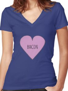 Bacon Love Women's Fitted V-Neck T-Shirt