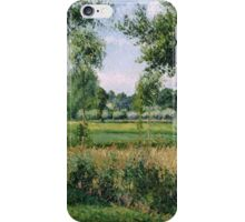 Camille Pissarro - Morning Sunlight Effect, Eragny 1899  French Impressionism Landscape iPhone Case/Skin