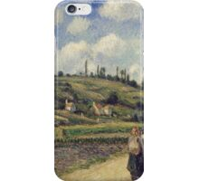 Camille Pissarro - Landscape near Pontoise, the Auvers Road, French Impressionism Landscape iPhone Case/Skin