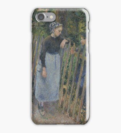 Camille Pissarro - Conversation  1881 French Impressionism Landscape iPhone Case/Skin