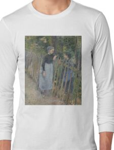 Camille Pissarro - Conversation  1881 French Impressionism Landscape Long Sleeve T-Shirt