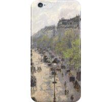 Camille Pissarro - Boulevard Montmartre, Spring 1897 French Impressionism Landscape iPhone Case/Skin