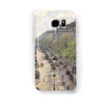 Camille Pissarro - Boulevard Montmartre, Spring 1897 French Impressionism Landscape Samsung Galaxy Case/Skin