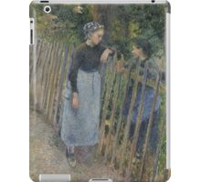 Camille Pissarro - Conversation  1881 French Impressionism Landscape iPad Case/Skin