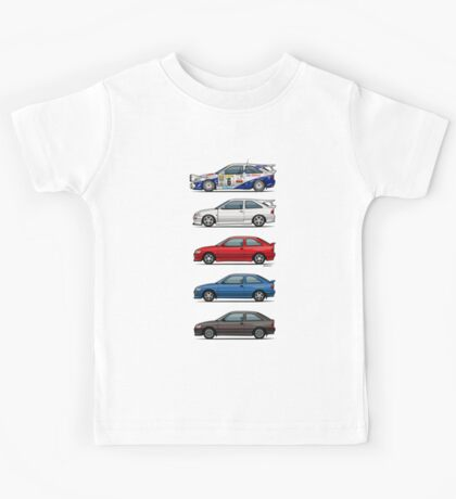 Stack of Ford Escort Mk.5 Coupes (pre facelift) Kids Tee