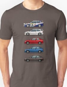 Stack of Ford Escort Mk.5 Coupes (pre facelift) T-Shirt