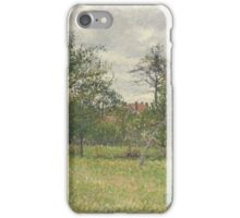 Camille Pissarro - Autumn, Morning, Cloudy, Eragny 1900 French Impressionism Landscape iPhone Case/Skin