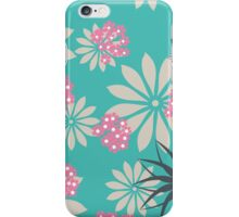 Tiffany Blue & Pink Flowers iPhone Case/Skin