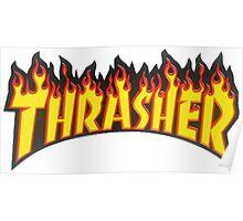 thrasher fire logo Poster