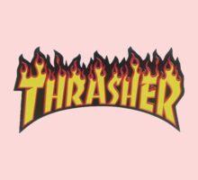 thrasher fire logo Kids Tee