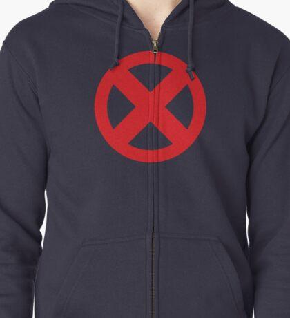 X-Men Red Logo Zipped Hoodie