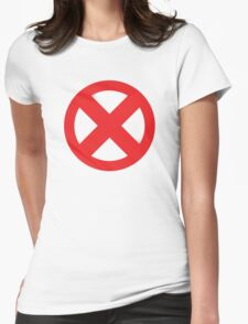 X-Men Red Logo Womens Fitted T-Shirt
