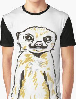 Meerkat with mustache Graphic T-Shirt