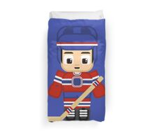Ice Hockey Blue and Red Duvet Cover